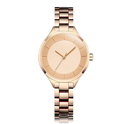 YQCH Relojes para Mujer Reloj de Lujo Cuarzo A Prueba de Agua Reloj de Pulsera para Mujer Ladies Girls Reloj de Moda Regalo (Color : D)