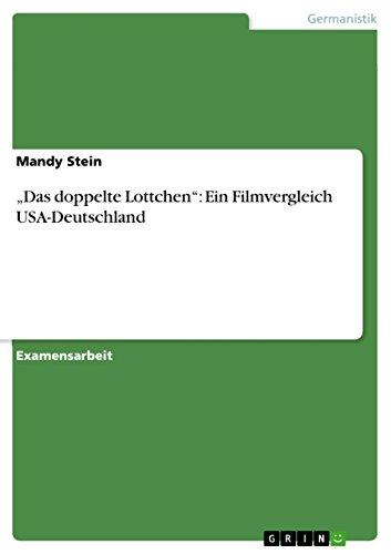 """""""Das doppelte Lottchen"""": Ein Filmvergleich USA-Deutschland (German Edition)"""