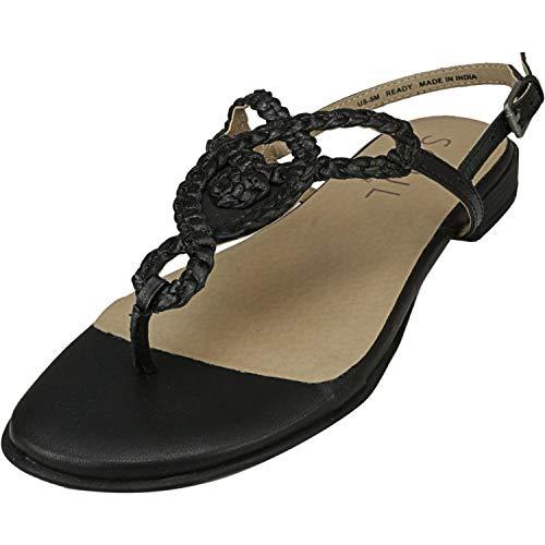 SOUL Naturalizer Women's READY Sandal, BLACK, 7 M US