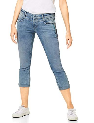 STREET ONE Damen Crissi Jeans, Light Blue Random Bleached, W29/L26