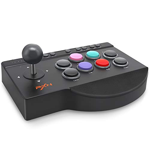 PXN Arcade Fight Stick, Fighting Game Joystick for PS4, PS3, Xbox One, Nintendo Switch and Windows PC - 7.2 ft USB Cable