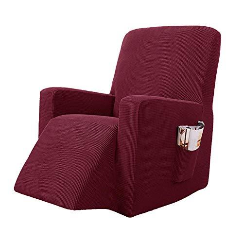 ADELALILI Sesselschoner Sesselüberwürfe Fernsehsessel Relaxsessel Rot Bezug Elastisch Schmutzabweisender Verschleißfest Stretch Sofahusse Schonbezug