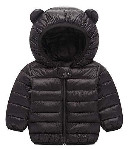 DEMU kleren winter jas winterjas met capuchon gewatteerde jas capuchon jas sneeuwpakken 110 zwart