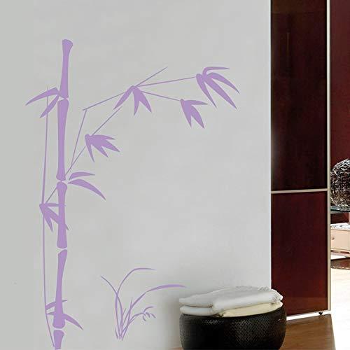 Pegatinas de pared para sala de estar, casa de bambú y PVC, decoración de pegatinas, baños navideños, papel tapiz, frigorífico, murales, calcomanía, vinilo, decoración del dormitorio, 100x145cm