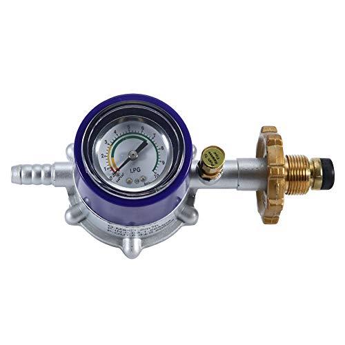 iFCOW Explosionsgeschütztes Druckminderer für Flüssiggas im Haushalt mit Manometer