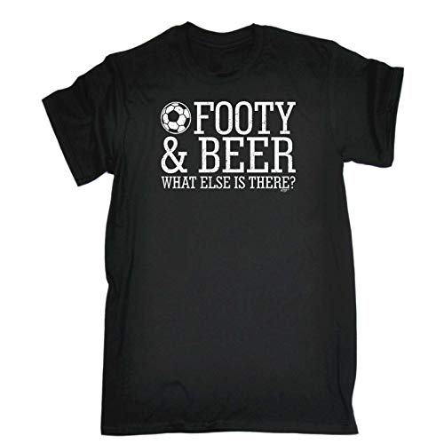 Funny Novelty Tee - Football and Beer What Else is There Mens T-Shirt Cheap...