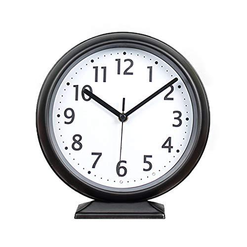 Reloj de escritorio Funcionamiento de la batería del reloj moderno Reloj sin silenciar Reloj de silencio Reloj de silencio creativo Reloj de mesa de metal simple Reloj de sesión Despertador de cabece