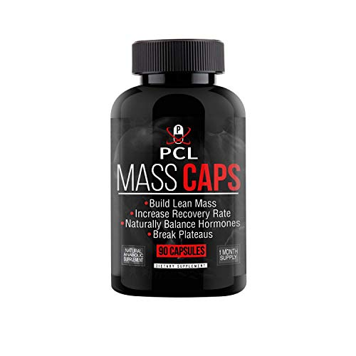 Mass Caps - Highest Quality Muscle Builder on Amazon, Build Lean Mass, Balance Hormones, Break Plateaus, with Creatine HCL, Smilax Sieboldi Extract, HMB, L-Carnitine, 90 Vegan Capsules…