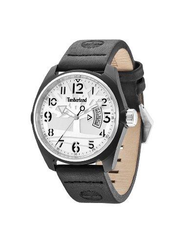 Timberland TBL.13679JLBS/04 - Reloj analógico de Cuarzo para Hombre, Correa de Cuero Color Negro