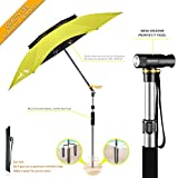 BESROY Portable Sun Beach Umbrella,Carbon Fiber Umbrella Rod,New Black Glue,Anti Ultraviolet,Quick Installation,360° Arbitrary Rotating,Used in Beaches, Pools, terraces, Parks, Tours (Green Ultimate)