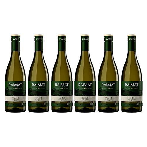 Raimat | Vino Blanco Raimat Castell Chardonnay 2017| MEDALLA DE ORO MUNDUS VINI - 2018 | D.O. Costers del Segre | Caja de 6 botellas de 75 cl