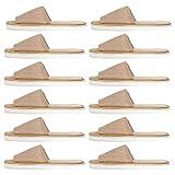 MILISTEN 6 Pares de Zapatillas Desechables de Punta Abierta Zapatillas de Spa de Hotel de Interior Antideslizante Chanclas Zapatos de Salón de Uñas Zapatillas de Invitados para Hombres Y