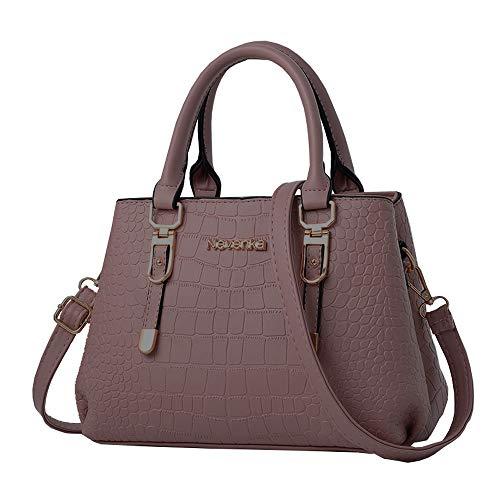 Nevenka PU Leather Women Crossbody Bag Shoulder Bag Satchel Handbags Fashion Bag (1703Deep pink)