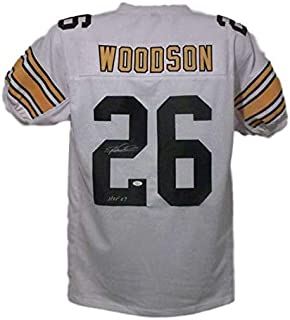 Rod Woodson Autographed Pittsburgh Steelers XL White Jersey HOF JSA