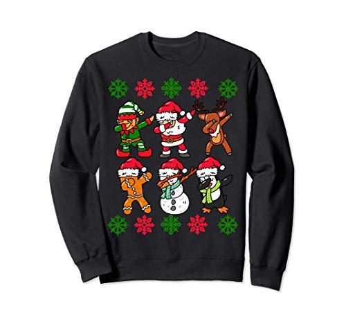 Dabbing Noël Santa Laid Pull Enfants Garçons Filles Cadeaux Sweatshirt