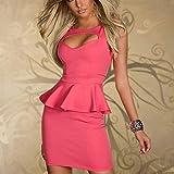 DILD-O Dessous Sexy Chemise Nachthemd Babydoll Soft Nachtwäsche,Pink-S