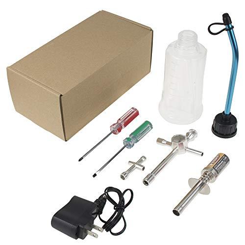 RC Nitro Gas Starter Kit Glow Plug Igniter Ignitor Us Adaptor Tool 80142A for HSP Redcat Trucks Buggies Model Car