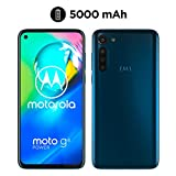 moto g8 power Dual-SIM Smartphone (6,4'-Max Vision-HD+-Display, 16-MP-Hauptkamera, 64 GB/4 GB, Android 10) Blau inkl. Schutzcover & KFZ-Adapter - exklusiv bei Amazon