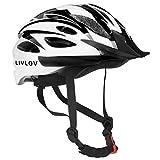 LIVLOV Casco Bici Casco da Bicicletta 56-62 cm, Certificato CE, Corpo in EPS + Guscio PC, Robusto e...