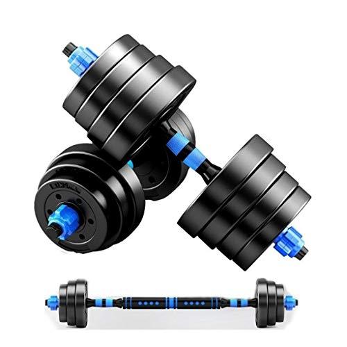 Capacitación Pesas Conjunto grande pesas Barbell mangos de goma ajustable Fuerza Peso 10 kg 20 kg Hierro 30GK 40KG Culturismo, trabajo de gimnasio a cabo la formación Ejercicio ( Color : 30KG/66lbs )