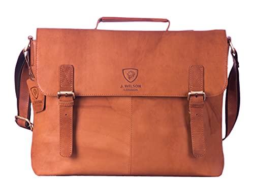 J WILSON London - Designer Genuine Real Distressed Vintage Hunter Leather...