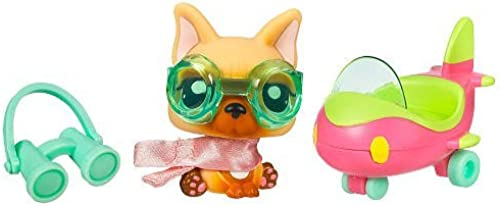 Littlest Pet Shop Pets On the Go Series 1 Dog with Airplane by Littlest Pet Shop