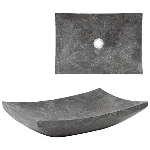 Festnight Waschbecken Marmor Handwaschbecken Waschschale für Badezimmer - 50×35×12 cm Marmor Schwarz