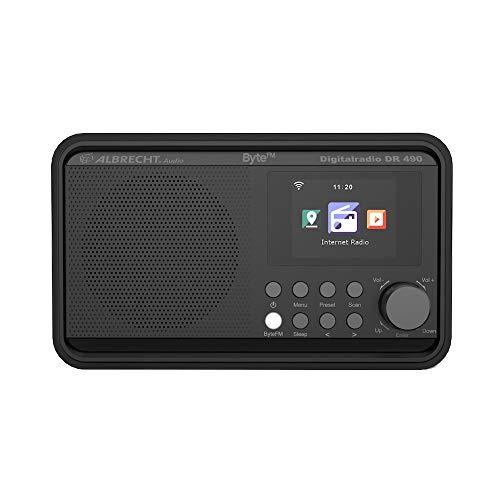 Albrecht DR490 ByteFM, Internet/DAB+/UKW Radio mit Farbdisplay, 27492, Radiosteuerung via Smartphone-App, ByteFM Direktwahltaste, Farbe: schwarz