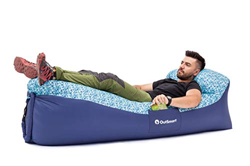 OutSmart Inflatable Lounger, Indoor and Outdoor Air Sofa Hammock for Adults and Kids That is Waterproof and Floating to be Used in The Pool or on The Beach, for Travelling, Camping or Festivals