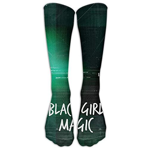 Kotdeqay Black Girl Magic White Unisex Knee High Sports Socken