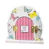 Puerta de hadas rústicas, miniatura, hada, elfo, puerta de casa y ventana, casa de muñecas, decoración en miniatura, árbol decorativo tipo mariposa, 12 x 12 cm