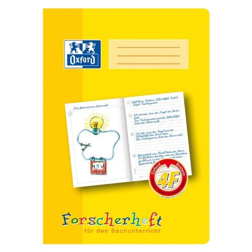 Oxford 100050097 - Quaderno per materie scientifiche, formato A4, a righe, 16 fogli, 90 g/m², carta ottica, 10 pezzi, colore giallo