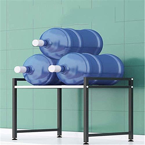 Multifunción Multifuncional de microondas horno de carro Microondas soporte de sobremesa del hogar encimera de almacenamiento en rack de doble capa Negro LINGZHIGAN (Color : A, Size : One Size)