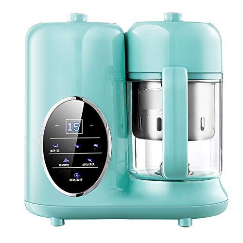 TWW Máquina De Alimentos Complementaria para Niños Y Niños Que Cocinan Máquina De Cocción Integrada Máquina Multifunción para Mezclar Y Triturar Pasta De Arroz Molinillo De Alimentos,Verde