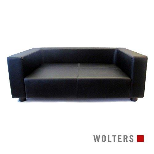 Wolters First Class Lounge Kunstleder Hundekissen Hundebett Hundekorb Schwarz