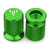 JDDRCASE Puerto de Aire de la válvula de neumático de la Motocicleta Tapa del Tallo de la Cubierta del Tallo Accesorios de Enchufe para Yamaha MT01 MT-01 (Color : Verde)