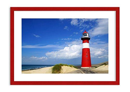 Imagen en un Marco de Madera de Color Rojo - Imagen en un Marco - Cuadro sobre...