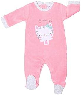 Pack 2 Pijamas Pelele Polar Cuerpo Entero Bebe niña para Dormir (Rosa/Blanco, 3 meses-60cm)
