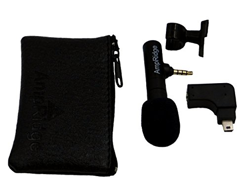 Ampridge MightyMic G GoPro/iPhone Professional Shotgun Condenser Microphone with Headphone Monitor