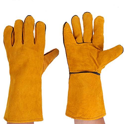 TYXHZL elektrische lashandschoenen extreme hittebestendige brandwerende handschoenen voor open haarden, kachels, ovens, grills, solderen, grillen, mei, potrekken, dierlijke behandeling slijtvaste lange verdikking