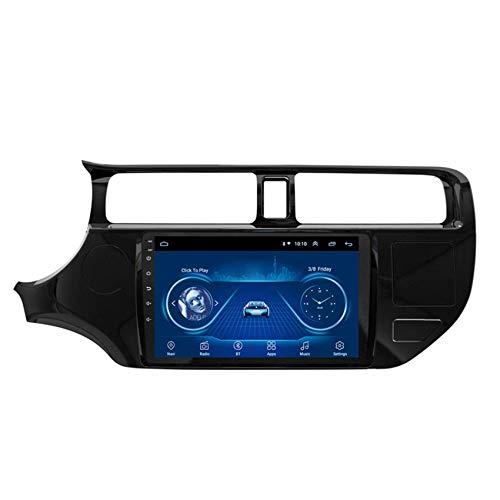 KLL Double DIN autoradio para Kia Rio 2012-2014 Pantalla táctil HD 1080P Soporte Radio FM/RDS DSP Reproductor MP5 Controles del Volante Salida de Video(con cámara Trasera),WiFi,1+16G