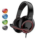 Spirit Of Gamer - Casco Con Micrófono Gta 210 - Led Rojo - Pour Ps4/Ps5/Xboxone/Seriesx/Switch/Pc (PlayStation 5)