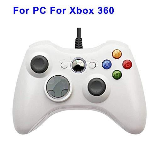 HDHL Mando Joystick de Tablero vibrador con CableUSBparaelControlador dePC con WindowsWhiteforxbox360