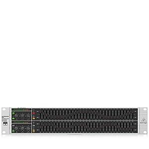 Equalizzatore EQ professionale stereo grafico, per applicazioni Live e studio Sistema di rilevamento del feedback FBQ, rivela istantaneamente frequenze critiche, può essere utilizzato anche come analizzatore audio Amplificatori operazionali low noise...