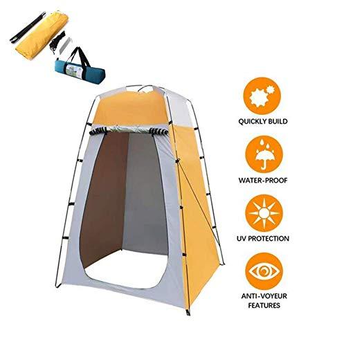 Tente de confidentialité pour douche de bain portable extérieure, tente de confidentialité étanche et légère, robuste, abri de pluie amovible pour dressing et camping, pliable avec sac de transport