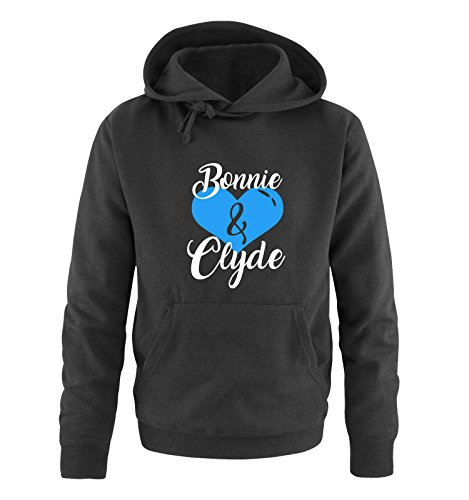 BONNIE And CLYDE ®; - Sweat-Shirt à Capuche - Manches Longues - Homme - Noir - XXXX-Large