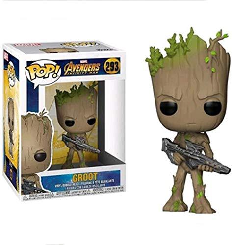 Pop! Vengadores Guardianes de la Galaxia Groot película de Vinilo 9 cm de acción Estatua de Anime Juguete de Marionetas de Anime coleccionables-UN