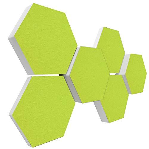 Basotect G+ Schallabsorber 3D-Set < 6 Elemente Ø30cm > Diverse Farben (HELLGRÜN)