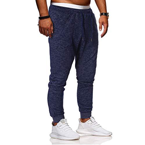 ZZBO Herren Jogginghose Sporthose Fitness Slim Fit Hose Freizeithose Sweat Trainingshose Tapered Sport Pants Joggers Streetwear