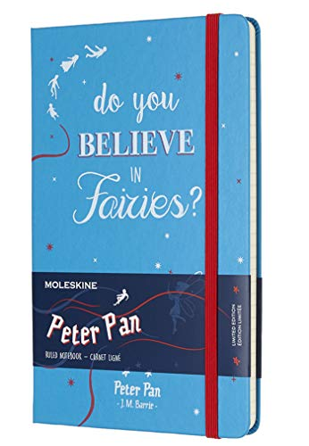 Moleskine notitieboek, Peter Pan, Hard Cover gelinieerd Large blauw